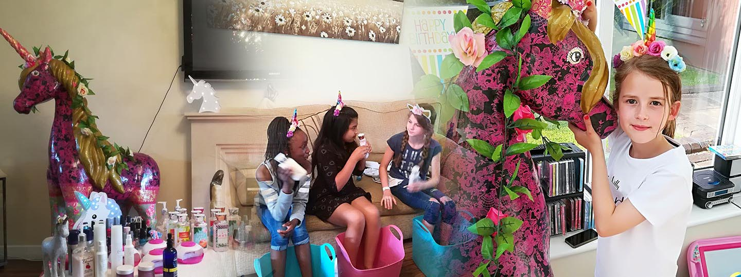 Unicorn Pamper Parties - Bertie & Belle Parties and Events