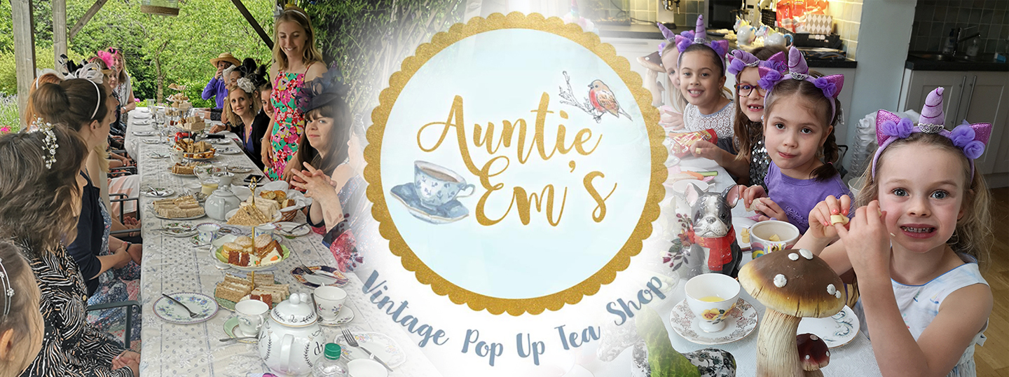 Auntie Em's Vintage Pop Up Tea Shop & Vintage China Hire