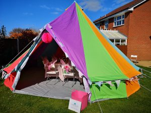 The Colourful Bell Tent Co - Bell Tent Hire for Parties and Sleepovers